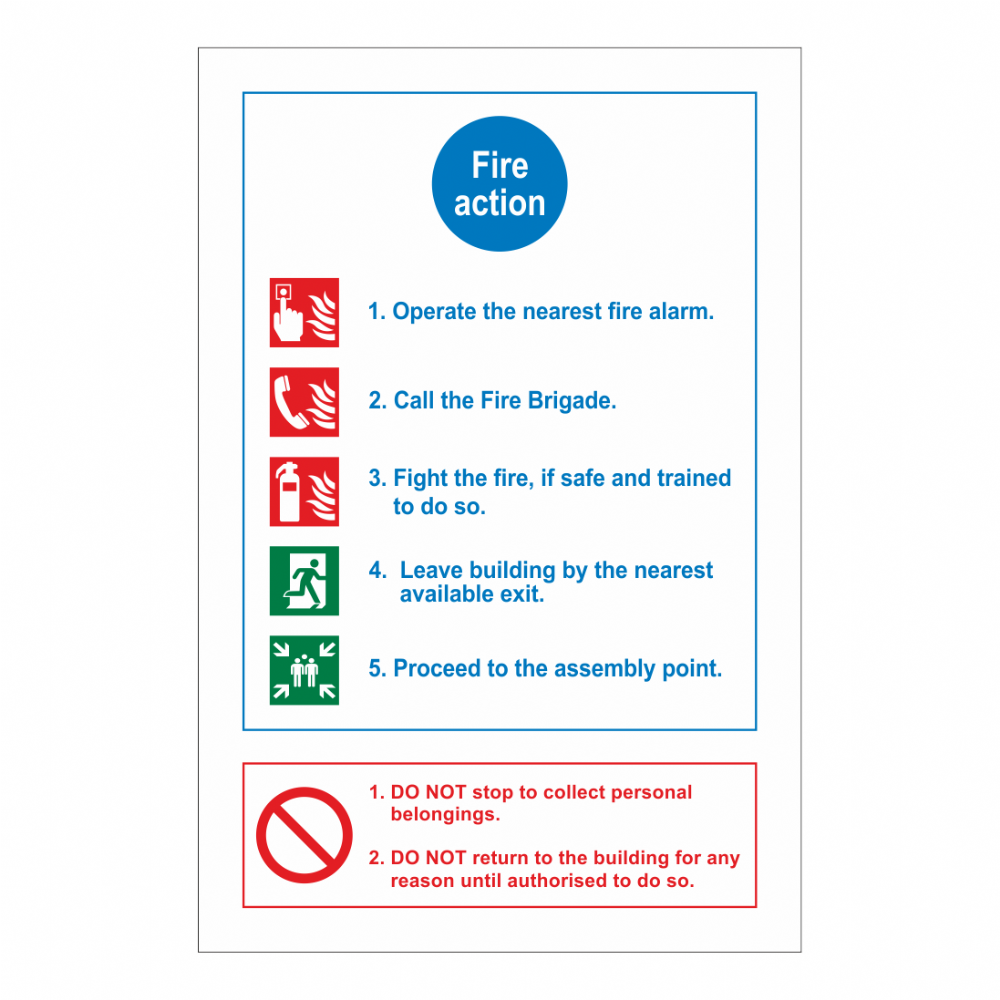 Fire Action, 5 Points/ Do Not Sign